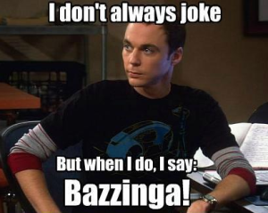 Sheldon from Big Bang Theory
